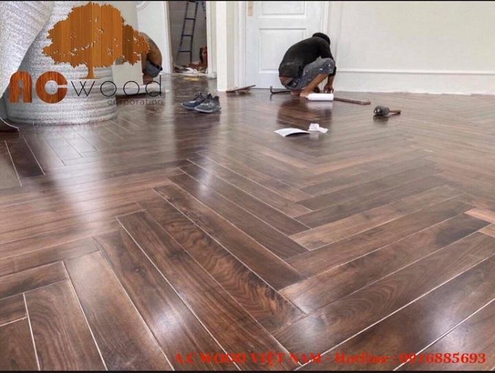 sàn gỗ xương cá tự nhiên