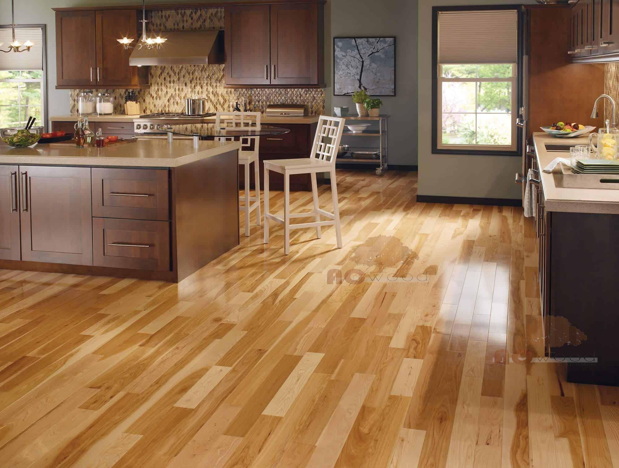 Sàn gỗ đem lại sự khang trang cho ngôi nhà